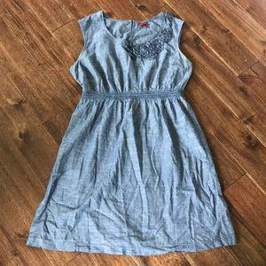 Chambray Sleeveless Dress - size 2X